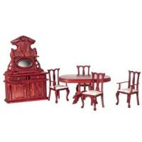 Dollhouse Mahogany Dining Set - Product Image