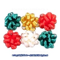 (*) Dollhouse 6 pc Christmas Bows - Product Image