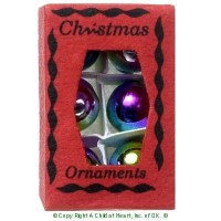 (§) Sale .60¢ Off - Rainbow Christmas Ornament Box - Product Image