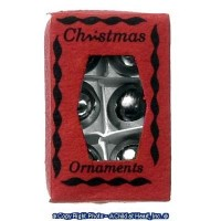 Dollhouse Gold or Silver Christmas Ornament Box(es) - Product Image