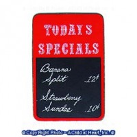 § Disc .40¢ Off - Dollhouse Soda Fountain Slate - Product Image
