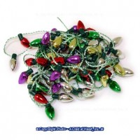 § Disc .50¢ Off - Dollhouse Christmas Metallic Lights - Product Image