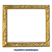 Dollhouse Rectangular Ornate Frame #2 - Product Image