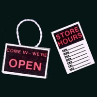 (*) Dollhouse Store Hours & Open/Closed Signs - Product Image