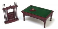 Dollhouse Fancy Pool Table Set - Product Image