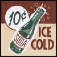 (**) Ice Cold Soda - Sign - Product Image