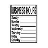 (*) Dollhouse White Business Hours - Sign - Product Image