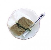 Single Slice of Cake with Fork - Product Image
