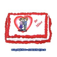 (§) Disc .60¢ Off - Dollhouse Be Mine Valentine Cake - Product Image