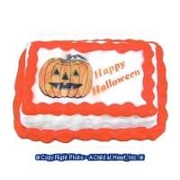 (§) Disc .40¢ Off - Happy Halloween Cake / Pumpkin - Product Image