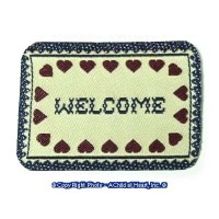 § Disc .70¢ Off - Dollhouse Welcome Mat - Product Image