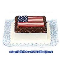 Dollhouse American Flag Cake - Product Image