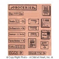 (*) Dollhouse Store Food Sign Set - Product Image