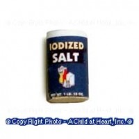 § Disc .60¢ Off - Dollhouse Miniature Iodized Salt - Product Image