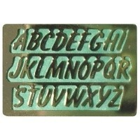 § Disc .70¢ Off - Dollhouse Brass House Alphabets - Product Image