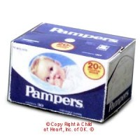 (*) Dollhouse Blue Pampers Diaper Box - Product Image