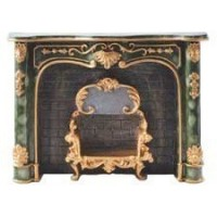 "Dollhouse Green ""Marble"" Fireplace - Product Image"