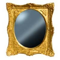 Ornate Gold Dollhouse Mirror - Product Image