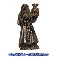 Dollhouse Antique Santa Statues - Product Image