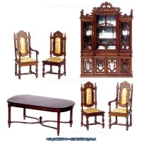 Dollhouse Charles II Dining Room by Bespaq - Product Image