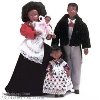 Sale $4 Off - Victorian African American Doll Family - Product Image