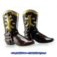 § Sale $2 Off - Small Dollhouse Cowboy Boots - Product Image