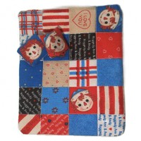 Dollhouse Raggedy Anne & Andy Baby Quilt - Product Image