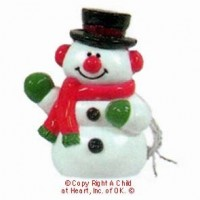 (**) Dollhouse Frosty Snowman (Resin) - Product Image