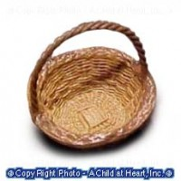(§) Sale .30¢ Off - Small Dollhouse Round Basket - Product Image