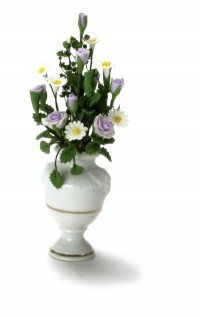 Purple and White Floral Arrangement - Product Image