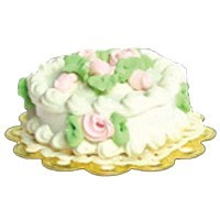 Dollhouse Pretty Rose Cake - Product Image