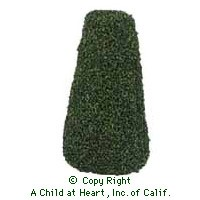 Two Dollhouse 4-1/2in. Flat Top Trees - Product Image
