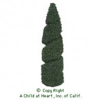 Two Dollhouse 4 in. Spiral Trees - Product Image