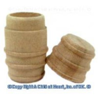 2 pc Wood Barrel - Product Image