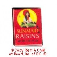 § Disc .30¢ Off - Dollhouse Box of Raisins - Product Image