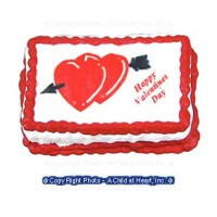 (§) Disc .60¢ Off - Happy Valentine's Day Cake - Product Image