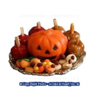 Dollhouse Halloween Pumpkin Platter - Product Image