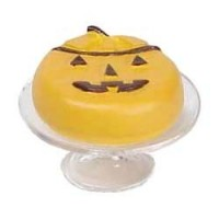Dollhouse Jack-O-Lantern Cake on Stand - Product Image