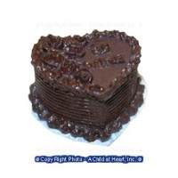 Dollhouse Chocolate Valentine Heart Cake - Product Image