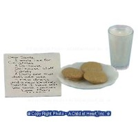 Dollhouse Note, Milk & Cookies for Santa - Product Image