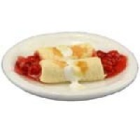 Dollhouse Strawberry Blintzes with Sour Cream - Product Image