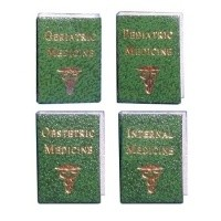 (§) Sale $1 Off - Dollhouse Set of 4 Medical Books - Product Image