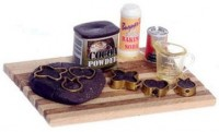 (**) Dollhouse Chocolate Cookie Baking Set - Product Image