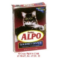 § Disc .30¢ Off - Dollhouse Alpo Cat Gourmet Dinner Box - Product Image