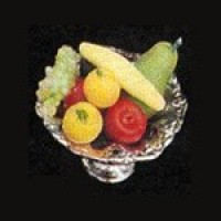 Dollhouse Silver Bowl of Fruit - Product Image