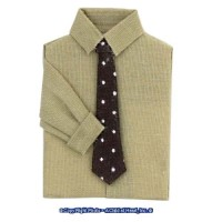 § Disc .60¢ Off - Man's Shirt Tan w/ Black Tie - Product Image