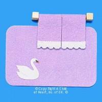 § Disc $1 Off - Dollhouse Violet Rug & Towel Set - Product Image