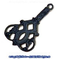 (*) Dollhouse Victorian Fan Trivet- Choice Of Color - - Product Image