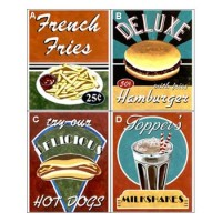 (**) Dollhouse Assorted Diner Signs - Product Image
