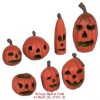 7 Dollhouse Halloween Pumpkins - Product Image